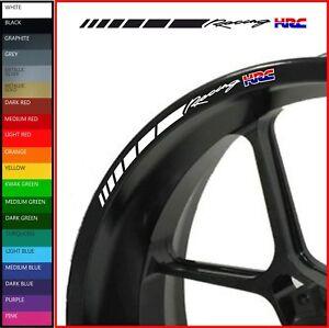 8 x Honda Racing HRC Wheel Rim Stickers - 20 colours - cbr rr vfr vtr 600 1000 f