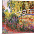 The Japanese Bridge - The Water-Lily Pond Canvas Art Print by Claude Monet
