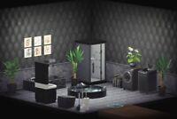 Animal Crossing New Horizons Bathroom Furniture Set Black