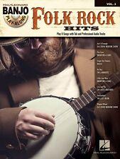 Folk Rock Hits Sheet Music Banjo Play Along Book and CD NEW 000119867