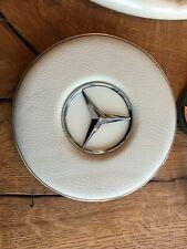 Mercedes Benz W108 W109 W114 W115 Oldtimer Lenkrad Prallplate in weiß