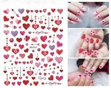 Valentines Day Nail Art Decal Waterproof Sticker Love Fancy Cute Heart Red Lips