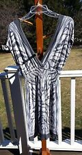 One Clothing Gray and White Dress Tunic Top Cover Up Size S
