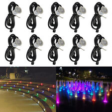 10pcs/set RGB 12V 30mm 0.6W Outdoor Garden Patio Path Recessed LED Deck Lights