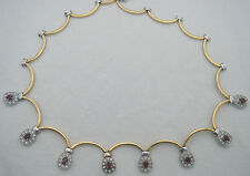Vintage 18ct Gold Ruby and Diamond 18k Necklace