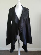 Womens black waterfall cardi by Heart&Soul, size 12-14, brand new