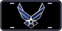 Air Force US Military Black Aluminum Novelty Car License Plate A3