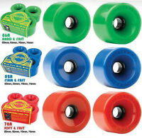 STAR-TRAC KRYPTONICS Skateboard Wheels Red Blue & Green - 55, 60, 65, 70 & 75mm