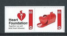 """NUOVA Zelanda 2012 Heart Foundation """"Set di 2 unmounted Nuovo di zecca, Gomma integra, non linguellato"""