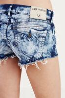 True Religion Women's Joey Star Cut Off Denim Jean Shorts in Stars & Stripes
