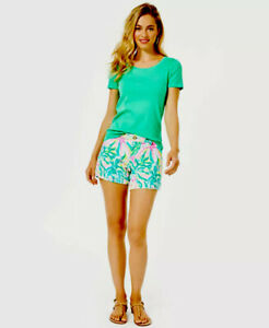NWT Lilly Pulitzer Callahan Knit Shorts Multi One In A Melon Sz 2