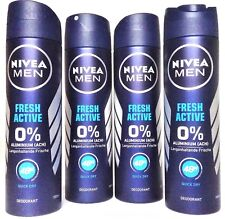 Nivea Deo Spray for men Fresh Active Deodorant 4 x 150 ml  (EUR 2,15 / 100 ml)