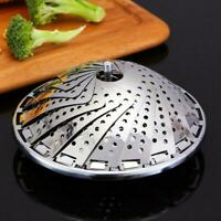 Stainless Steel Folding Retractable Steamer Vegetable Tool Basket Steamer Q5O1