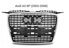 Audi A3 Sportback (8P)  (2004-2008) GRIGLIA RADIATORE MASCHERA ANTERIORE SILVER.