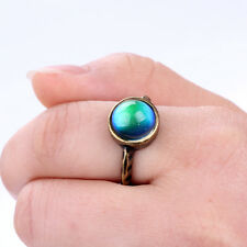 Fashion Handmade Gold Mood Ring Antique Color Change Ring with Color Chart