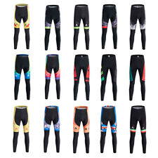 Men's Cycling Long Pants Padded Cycle Bicycle Bike Tights Pants Coolmax S-XXXL