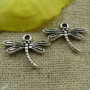 Free Ship 240 pieces tibetan silver dragonfly charms 18x15mm L-3903
