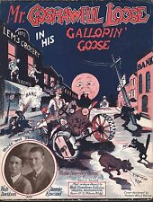 Mr Goshawful Loose in His Galopin Caboose 1923 Sheet Music