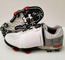 Under Armour UA Spieth One BOA White Gray Laceless Golf Shoes SZ 7 (1292754-100)