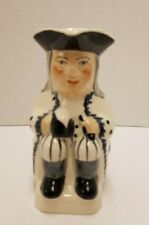 """5"""" TALL STAFFORDSHIRE TOBY JUG WITH BLACK & WHITE DESIGN~EXCELLENT CONDITION"""