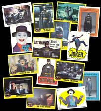BATMAN MOVIE 2ND SERIES - A TOPPS 1989 SET + STICKER SET + ORIGINAL WRAPPER SET