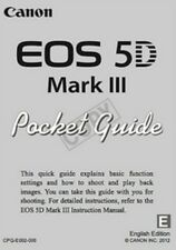2012 CANON EOS 5D MK III DIGITAL SLR CAMERA  POCKET GUIDE MANUAL -EOS 5D DSLR