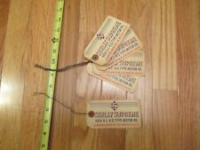 5 Skelly Oil Company Supreme Motor Oil Barrel Drum Hang Tags Lot of 5