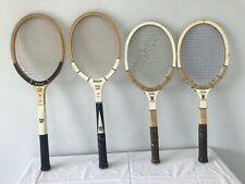 Collection Of 4 JACK KRAMER Vintage Wooden Tennis Racquets Wilson