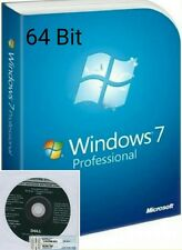 Windows 7 professional coa + full oem disque d'installation 64-bit SP1 + matériel