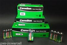 132 teiliges Camelion AA AAA 9V Batterien Paket - Super Heavy Duty - lose