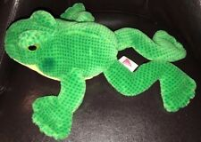 Dakin Vintage Plush 1988 Green Yellow Bull Frog Shake Ball Rattle Noise Baby Toy