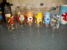 Vintage  Lot Of 7 Promotional Glasses- CARE BEARS/MUPPETS/ HTF Collectibles!
