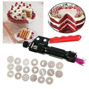 Portable Decorating Tool DIY Craft Fondant Cake Polymer Clay Extruder Easy Clean