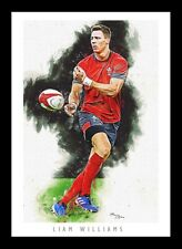 More details for liam williams - wales rugby - artwork portrait - a3 print