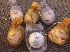 Qvc Flameless Christmas Bulbs Wax Ornaments Set Of Six (6)