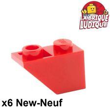 Lego - 6x slope inverted pente inversée 45 2x1 rouge/red 3665 NEUF