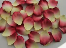 100 Ivory/Red PAPER ROSE PETALS | Wedding Scatter Table Confetti