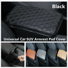 1x Car SUV Armrest Box Pad Cover Protect Center Console PU Leather Cushion Black