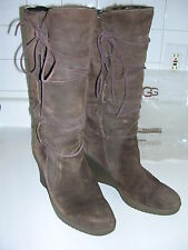 Authentic UGG australia SN 5596 Suede ELSEY Shearling Boots  Sz 10