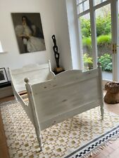 More details for antique french small double bed frame and luxury mattress