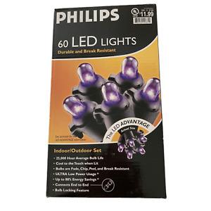 Philips 60 LED Dome Lights Purple Indoor Outdoor Set Halloween Decor Lighting
