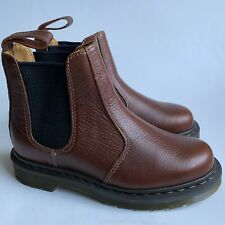 Dr. Doc Martens 2976 Brown Leather Slip-On Chelsea Boot US Womens 6 - Mens 5