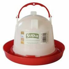 Supa Plastic Poultry Drinker Twistlock Hanging Water Bowl for Cage Aviary Birds