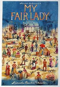 Laura Benanti, Norbert Leo Butz + Cast Signed MY FAIR LADY Poster