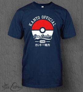 Pokemon T-Shirt Gym Leader Top MEN'S Nintendo Switch Lite Charizard Pikachu