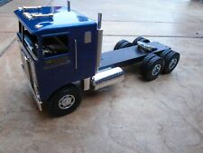 SMITH MILLER KENWORTH CAB IN BLUE.  NEW FIFTH WHEEL AND CHROME TRIM
