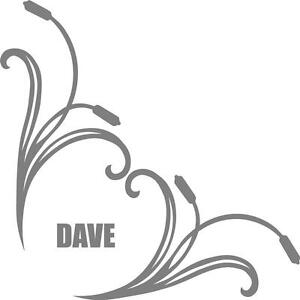 Custom name truck cab window stickers (pair) bullrush scroll with your name