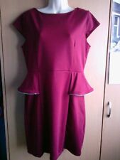 Ladies Apricot , maroon peplum dress.size L .good condition.