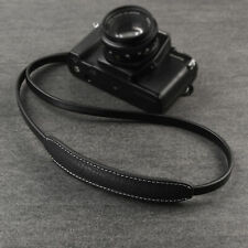 CANPIS Real Paded Leather Camera Neck Shoulder Strap for Fuji Sony Olympus [BLK]