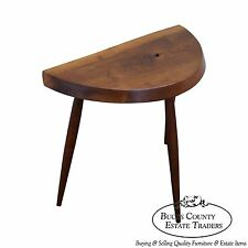 At Elfman Signed Studio Made Walnut Free Form Tri Leg Stool Bench
